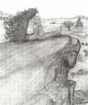 Spirit Rock - Pencil Drawing Print by Jenn Marie