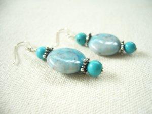 Turquoise Silver Dangling Delight Earrings