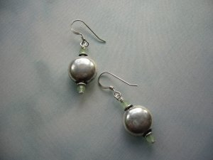 Lovely Small Silver and Crystal Earrings