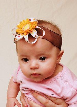Sunny Polka Dots Baby Headband