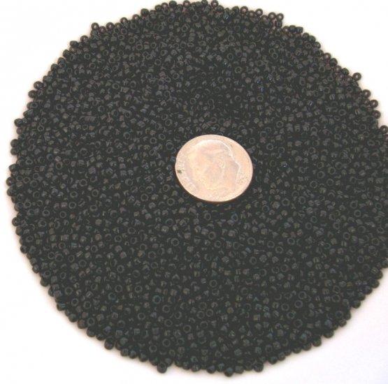 Size 11 Matsuno seed beads opaque black15 grams