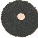 Size 11 Matsuno seed beads opaque black15 grams