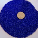 Size 11 Matsuno seed beads opaque dark cobalt blue 15 grams