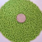 Size 11 Matsuno seed beads opaque lime 15 grams