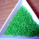 Size 11 Matsuno seed beads transparent grass green15 grams