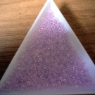 Size 11 Matsuno seed beads transparent pink 15 grams