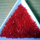 Size 11 Matsuno seed beads transparent ruby 15 grams