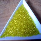 Size 11 Matsuno seed beads transparent yellow 15 grams