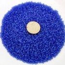 Size 11 Matsuno seed beads matte blue 15 grams