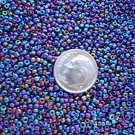 Size 11 iris beads Blue 15 grams