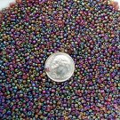 Size 11 iris beads Brown 15 grams
