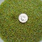 Size 11 Celestial rainbow beads lime 15 grams