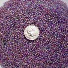 Size 11 Celestial rainbow beads purple 15 grams