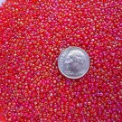 Size 11 Celestial rainbow beads red 15 grams