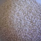Size 8 seed beads Opaque White 15 grams