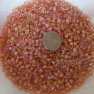 Size 6 seed beads Transparent Luster 25 Grams Cream Soda