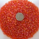 Size 6 seed beads Transparent Luster 25 Grams Orange