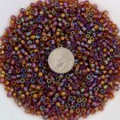 Size 6 seed beads Transparent Luster 25 Grams Root Beer