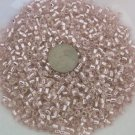 Size 6 seed beads Silver lined 25 grams Pale Pink