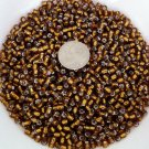 Size 6 seed beads Silver lined 25 grams Root Beer
