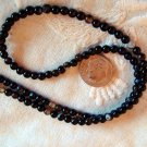 Black agate gemstone stone beads round 4mm 15 inch strand