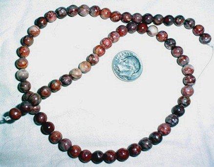 Rainbow jasper gemstone stone beads 6mm 15inch strand