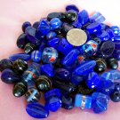 Bulk mixed beads.  Hand made.1 pound blue