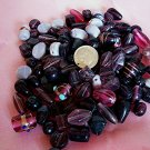 Bulk mixed beads.  Hand made.1 pound amethyst
