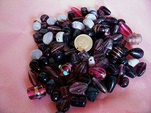 Bulk mixed beads.  Hand made.1 pound amethyst