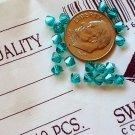 Swarovski crystal beads diamond cut bicone 4mm blue zircon 20 bead pack
