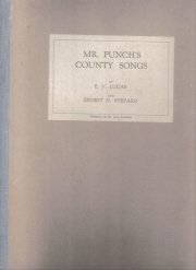 Mr. Punch's County Songs 1928 ILLUSTRATED Lucas