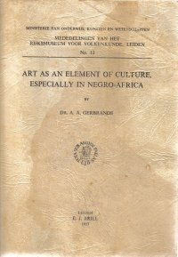 Art As An Element Of Culture A.A. Gerbrands