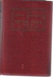 The Joyous Adventures Of Aristide Pujol [Paperback]  by Locke, William J.