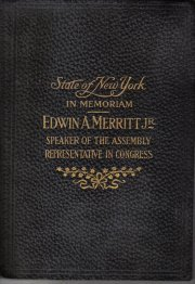 In Memoriam Edwin A. Merritt Jr. 1915 leather book