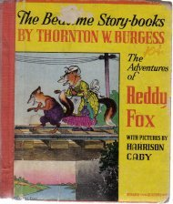 Adventures of Reddy Fox (Burgess Quaddies Trade Mark. Bedtime storybooks)  by...