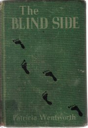 The Blind Side Patricia Wentworth 1939 HC