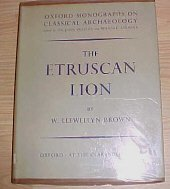 The Etruscan Lion W. Llewellyn Brown HC DJ 1960