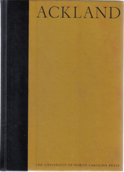 Ackland Catalogue of the Collection 1971 Hardcover