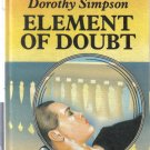 Element of Doubt Dorothy Simpson Large Print