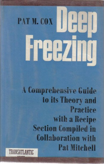 Deep Freezing Pat Cox 1968 Hardcover DJ