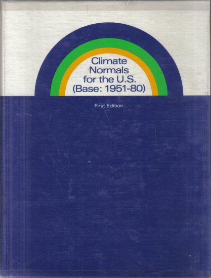 Climate Normals for the U.S. Base: 1951-1980