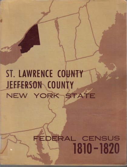 Jefferson St. Lawrence Counties NYS Federal Census 1810-1820