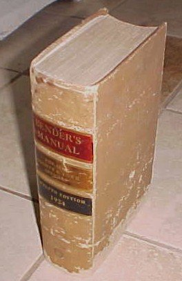 Bender's Manual All County Town Officers Twelfth Edition 1924