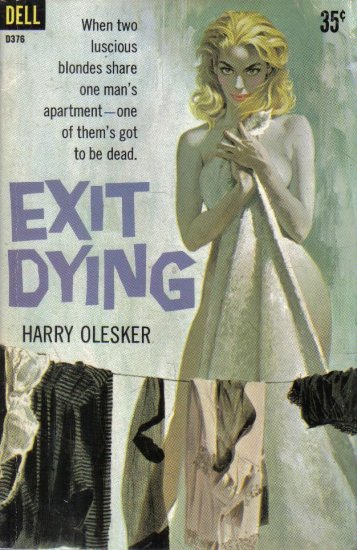 Exit Dying Harry Olesker 1960 Dell paperback