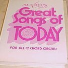 Audio Organs Great Songs of Today 1973 Annual