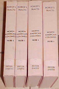 Force's Tracts North American Colonies 4 volume set-2nd edition 1963