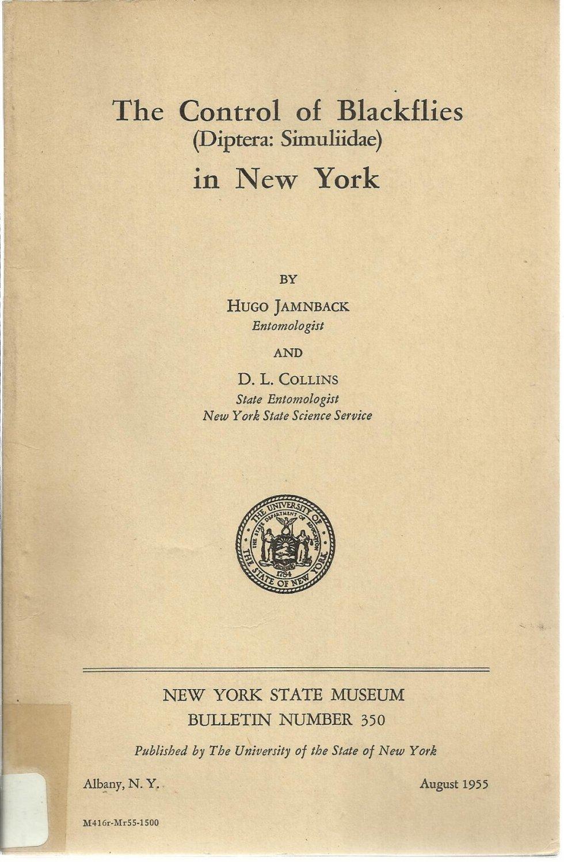 Control of Blackflies in New York (Diptera: Simuliidae)