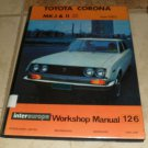 Toyota Corona Mk I & II 1500 1600 from 1962 Workship Manual 126
