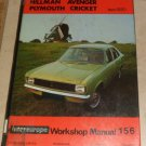 Sunbeam 1200-1500 Hillman Avenger Plymouth Cricket From 1970 Workshop Manual 156