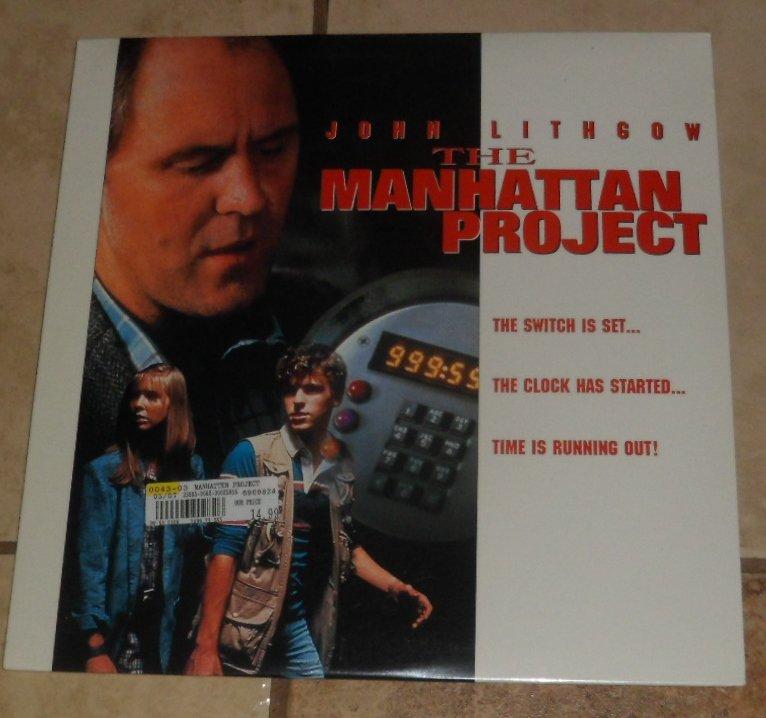 Laserdisc THE MANHATTAN PROJECT Laser Disc Videodisc SEALED